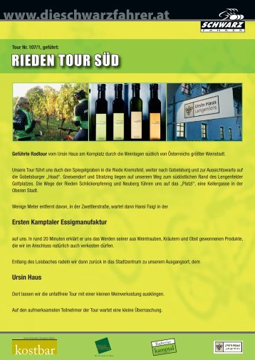 RIEDEN TOUR SÜD - Langenlois