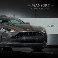 The limited customization programme for your Aston ... - Mansory