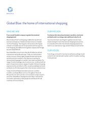 Download our company background as a PDF - Global Blue