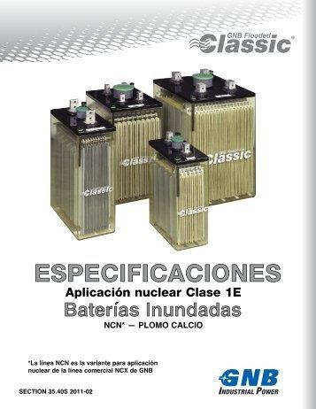 Aplicación nuclear Clase 1E - Exide Technologies