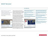 SOCET Services - BAE Systems GXP Geospatial eXploitation Products
