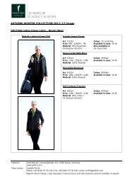 AUTUMN/WINTER COLLECTION 2011/12 Image – GOLFINO Ladies