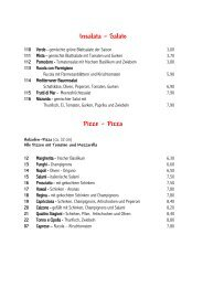 Insalata – Salate Pizze - Pizza - Villa Dante