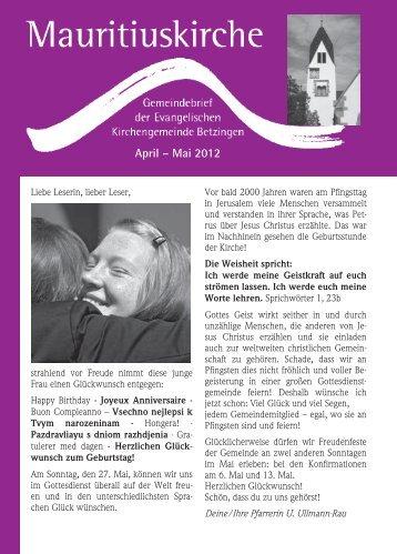 April – Mai 2012 - Mauritiusgemeinde-betzingen.de
