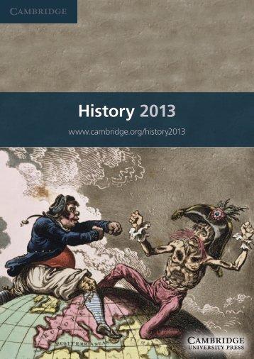 History 2013 - Cambridge University Press India
