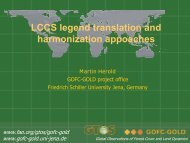 Harmonization and legend translation - GOFC-GOLD LC-IT Office