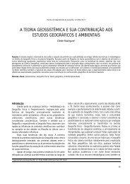 A teoria geossistêmica e sua contribuição aos estudos geográficos ...