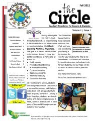 Fall 2012 - Children's School at Sylvia Circle - Rock Hill School District