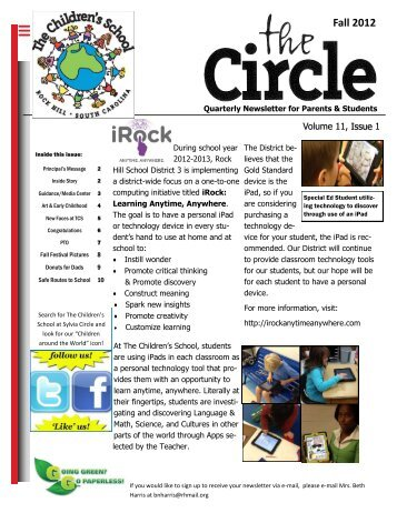 Fall 2012 - Children's School at Sylvia Circle - Rock Hill School District