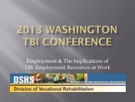 Employment and TBI (Division of Vocational Rehabilitation)