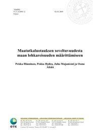 Maatutkaluotauksen soveltuvuudesta maan ... - Arkisto.gsf.fi