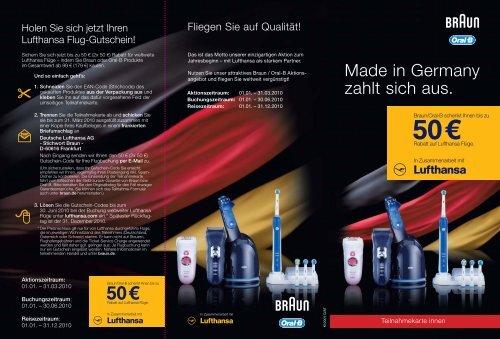 Made in Germany zahlt sich aus.