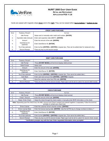Verifone 8020 manual