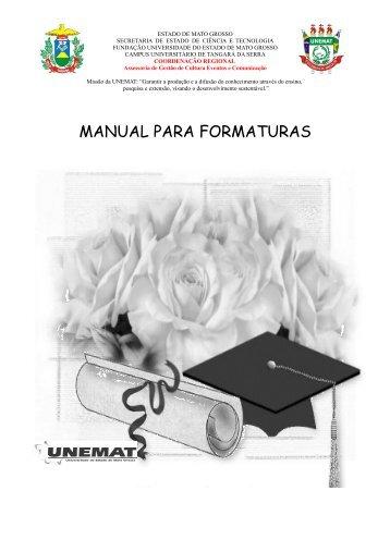 Manual para Formaturas - UNEMAT