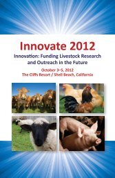 Innovate 2012 - American Society of Animal Science