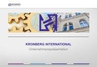 Präsentation KRONBERG-Gruppe - Kronberg International