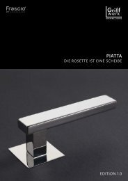 Broschüre PIATTA Die Rosette ist eine Scheibe - Frascio