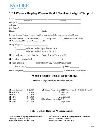 Bowl For Kids' Sake 2013 Pledge Form - Foundation For Youth
