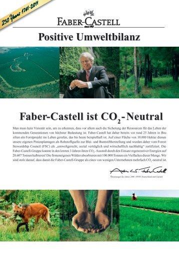 Positive Umweltbilanz Faber-Castell ist CO -Neutral