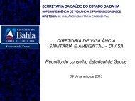 DIRETORIA DE VIGILÂNCIA SANITÁRIA E AMBIENTAL ... - Sesab