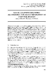 local adaptive learning algorithms for blind separation of ... - CiteSeerX