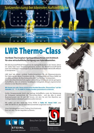 Flyer Thermo-Class Fakuma 2009.indd - LWB Steinl GmbH & Co. KG