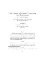 Fault Diagnosis of Distributed Systems using Logic ... - centria