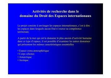 Droit des espaces internationaux - Umr-Amure