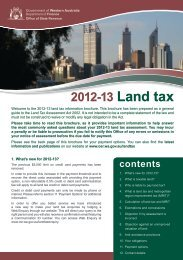 2012-13 Land tax - Department of Finance