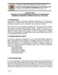 Reporte por: Alvaro Espinel y Claudia Baquero (2 Agosto ... - OTCA