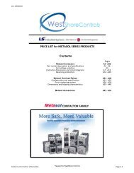 MetaSol Price Book - West Shore Controls