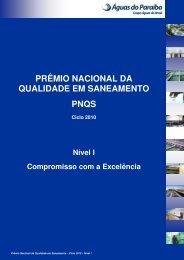 PRÊMIO NACIONAL DA QUALIDADE EM SANEAMENTO PNQS
