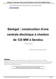 Sénégal : construction d'une centrale électrique à charbon de 125 ...