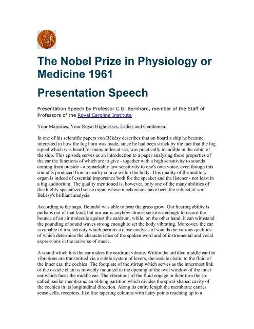 Prize giving speech.