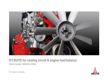 GT-SUITE for Cooling Circuit and Engine Heat-balance
