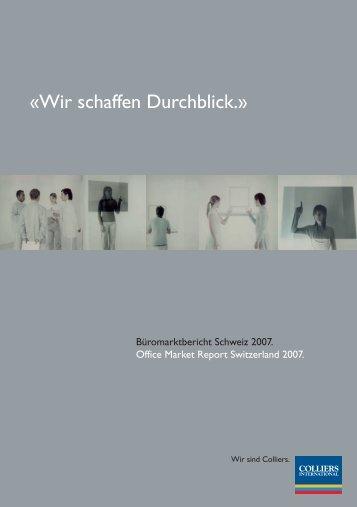 «Wir schaffen Durchblick.» - Colliers International Zurich