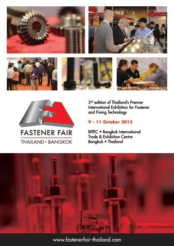 Download the Fastener Fair Thailand 2013 brochure here