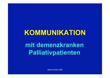 KOMMUNIKATION - palliativ-medizin.at