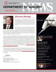 Chairman's Message - Weill Cornell Medical College - A New York ...