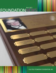 MARCH PDF Issue - Cal Poly Pomona Foundation