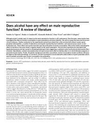 Does alcohol have any effect on male reproductive function? A ...