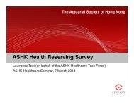 ASHK Health Reserving Survey - Actuarial Society of Hong Kong
