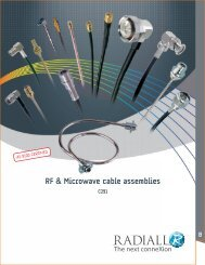 Radiall RF & Microwave Cable Assemblies Pdf - Northern Connectors