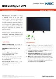 NEC MultiSync® V321 - geier-tronic videotechnik