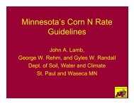 How will the New N Recommendations affect Minnesota Agriculture?