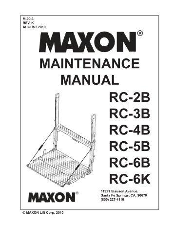 Maxon Liftgate Wiring Diagram Circuit Diagram Wiring