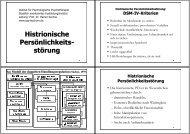 Histrionische Persönlichkeits- störung - Institut für Psychologische ...