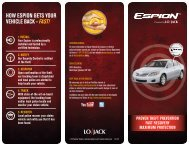 to download our flyer - Lojack
