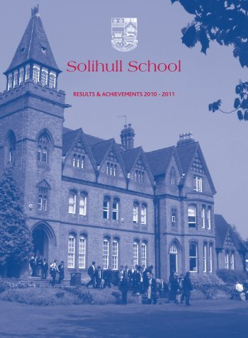 results & achievements 2010 - 2011 - Solihull School