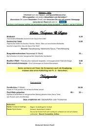 Salate, Vorspeisen & Suppen Hauptgerichte - Restaurant Sternen ...